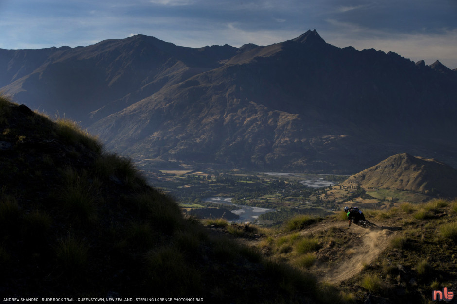 Andrew Shandro on 'Rude Rock' trail near Queenstown, New Zealand.