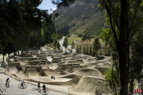 at the Gorge Road Dirt Jumps near Queenstown, New Zealand.