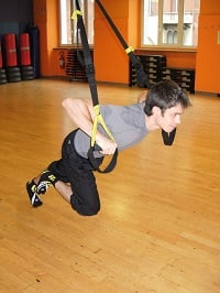trx push up ginocchio su 2