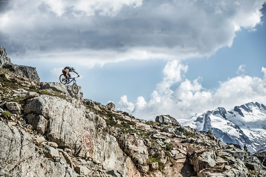 Joe Barnes beim Enduro World Serie Stop in Whistler, Top of the World