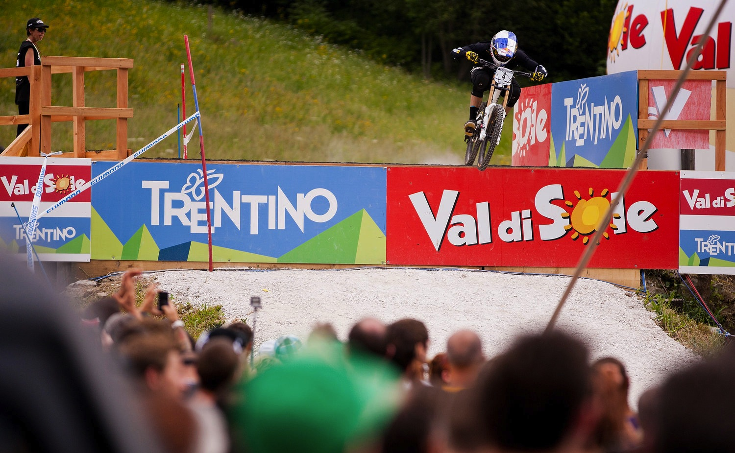 Gee Atherton, during Val Di Sole UCI MTB World Cup, Italy. Downhill Round 2.
