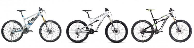 Canyon Torque, Specialized Enduro, Lapierre Spicy: tre bici con schema di sospensione simile, ma comportamento differente