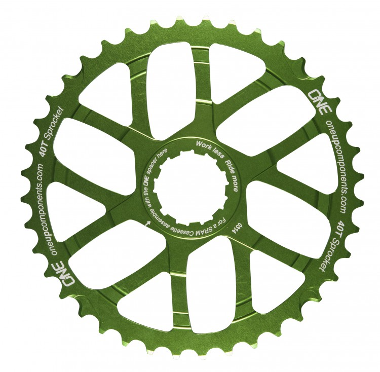 OneUp_Components_40T_Sprocket_Green_Front