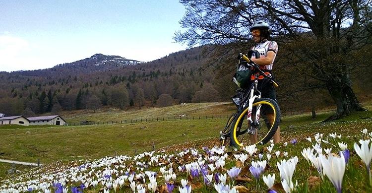 biker mtb fiori
