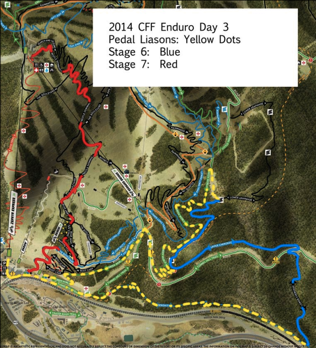 EWS day 3 course map.