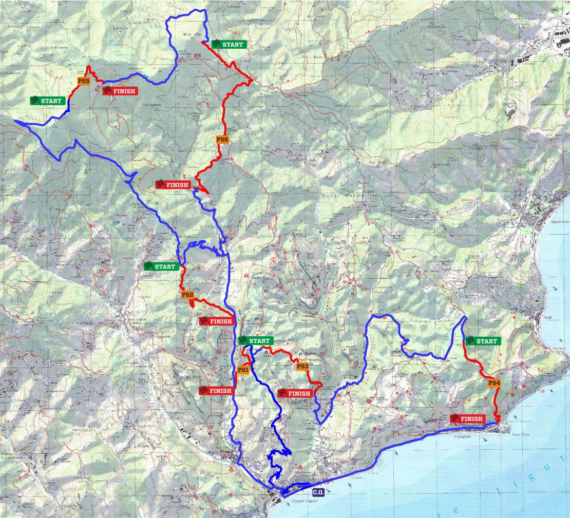 The course map is a challenge for all riders to complete.