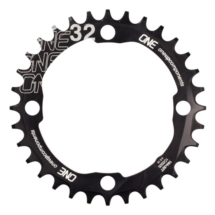 OneUp-Components-32T-104BCD-Narrow-Wide-Chainring-Black-Front