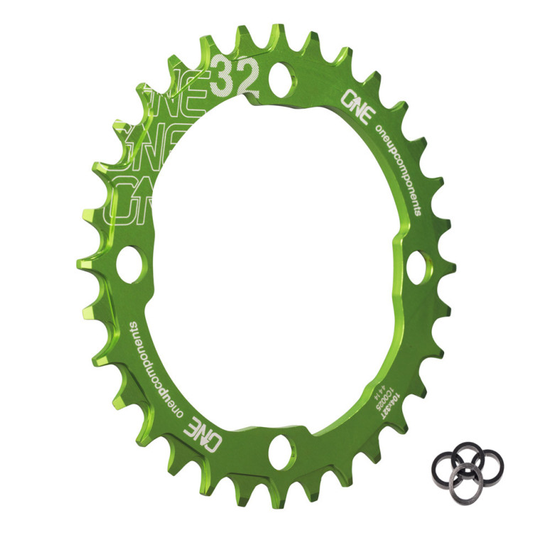 OneUp-Components-32T-104BCD-Narrow-Wide-Chainring-Green-Iso