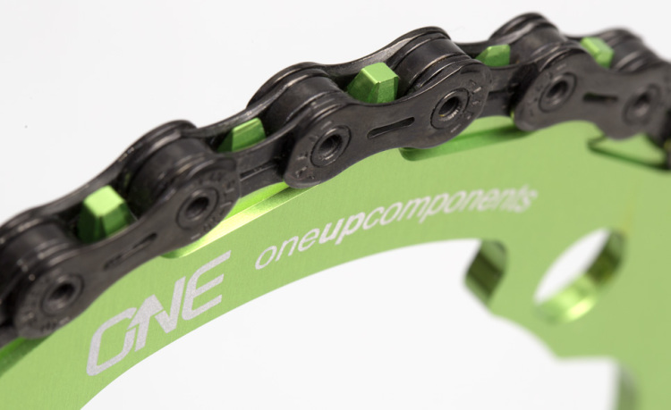 OneUp-Components-32T-104BCD-Narrow-Wide-Chainring-with-Chain-Macro-Green
