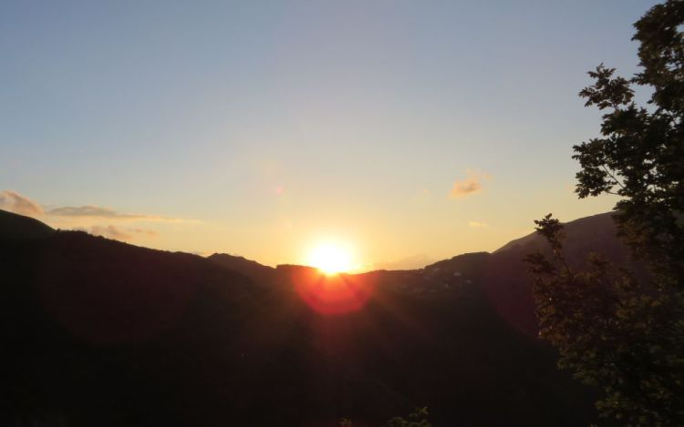 il tramonto a Passo Ventoso