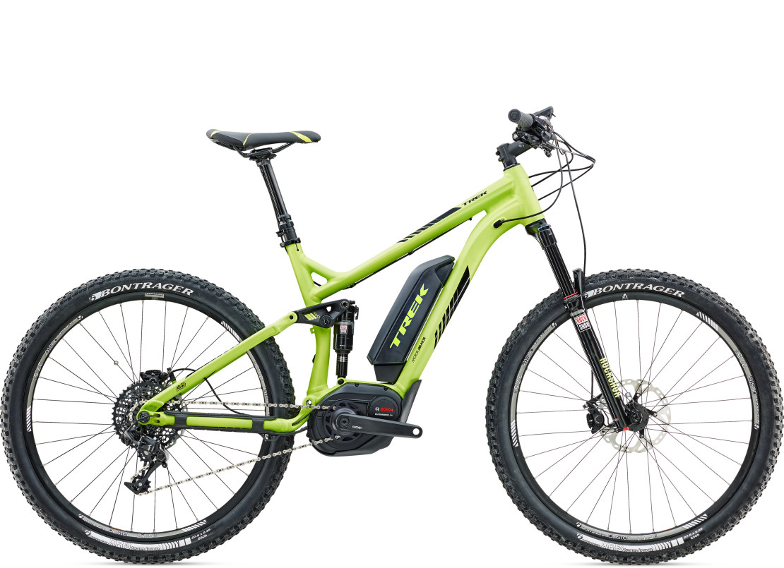 first look trek powerfly fs9 full suspension ebike mtb. Black Bedroom Furniture Sets. Home Design Ideas