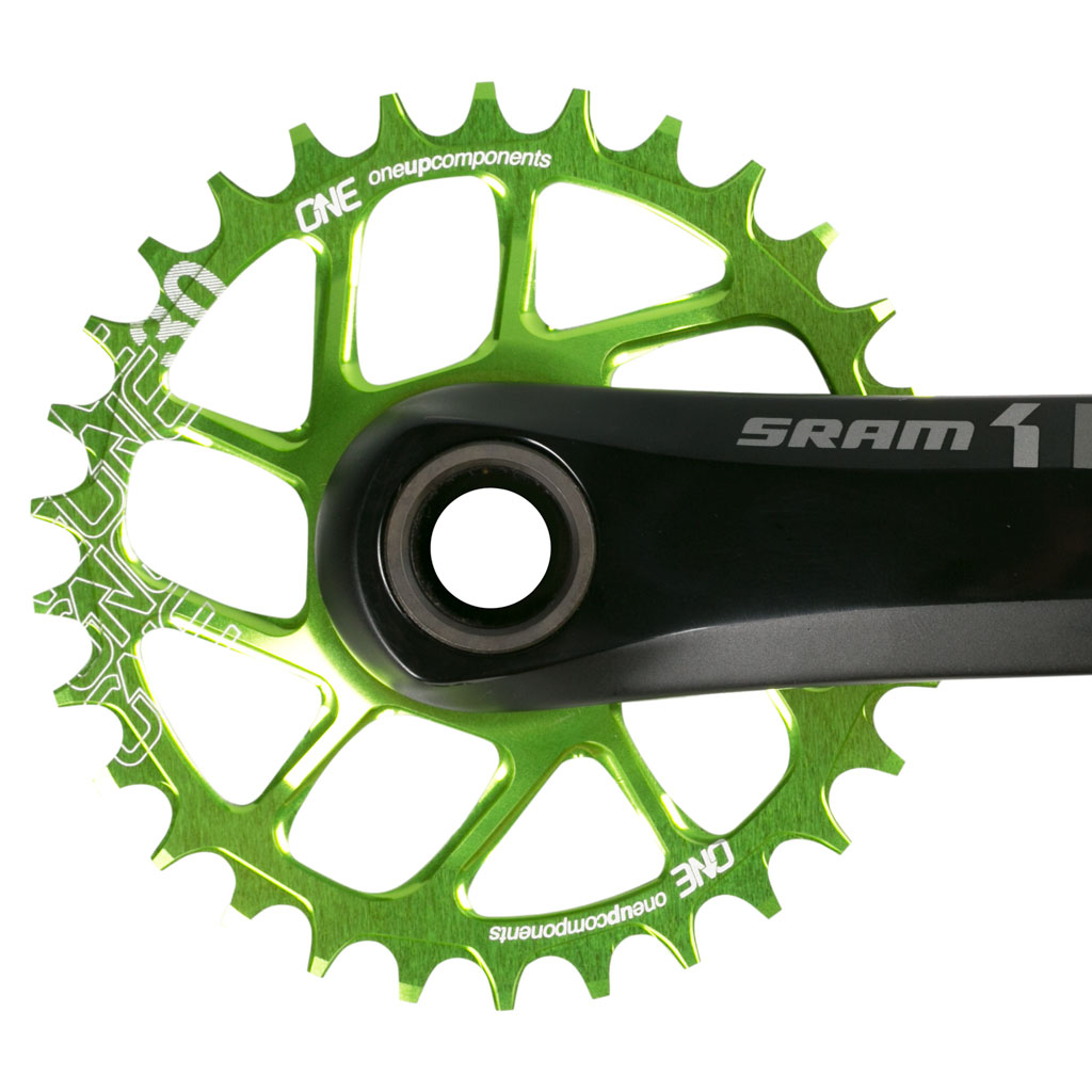 OneUp-Components-SDM-30T-Narrow-Wide-Sram-Direct-Mount-Chainring-Grn-Sram-X1-Crank-Front-1024