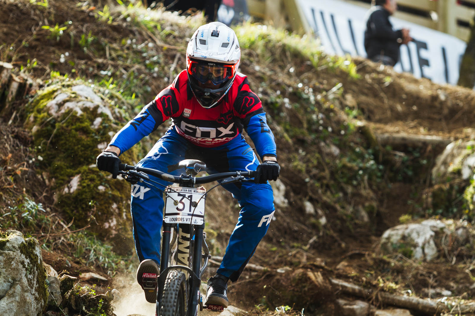 El francés Guillaume Cauvin entrenando en casa.
