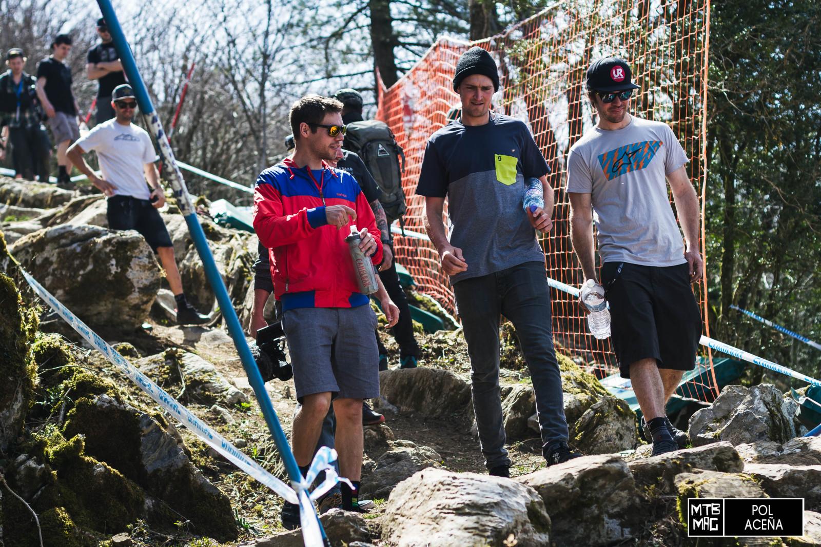 Brendog en el rock garden, al principio del circuito.