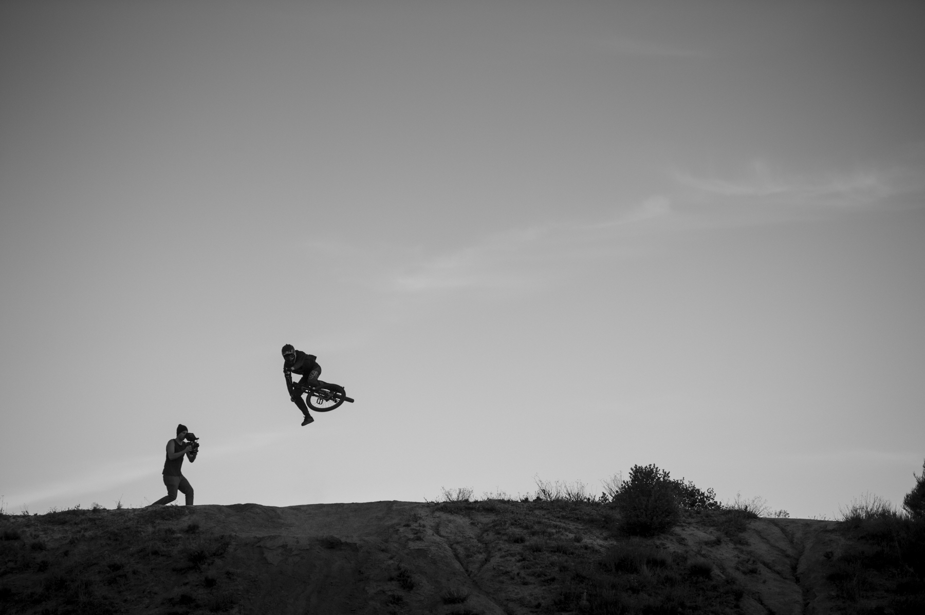 Filming with Clay Porter.  Pine Valley, California 2014