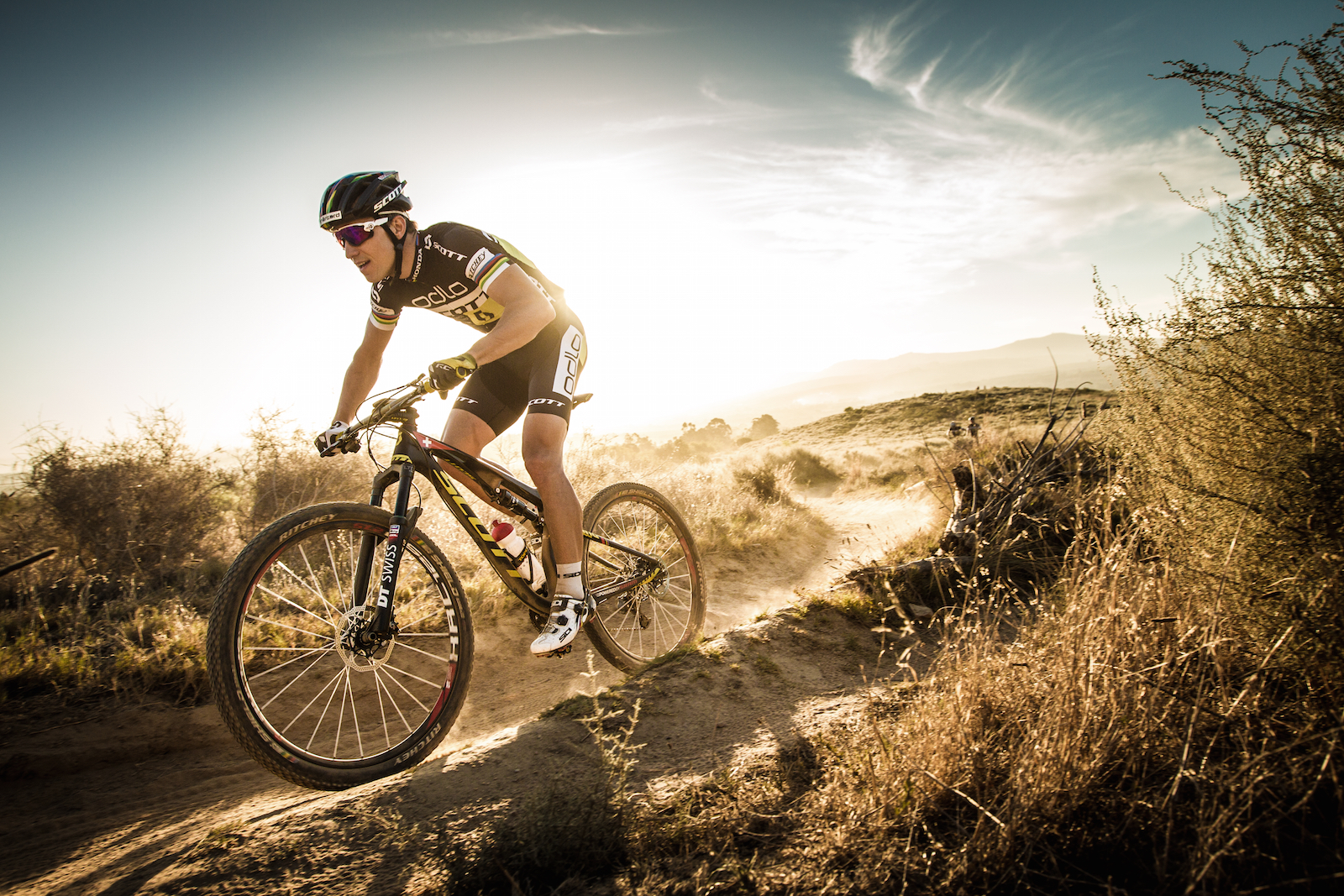 5 March 2015 - Scott-Odlo shoot near Stellenbosch with Nino Schurter, Michiel van der Heijden, Jenny Rissveds & Thomas Frischknecht. Photo by Gary Perkin