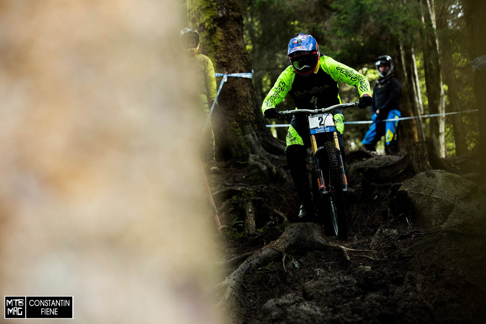 Aaron Gwin on the inside line before the Road Gap