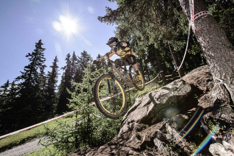 BÜHLER, Marco races the European Enduro Series Round 4 in Nauders, Austria, on August 24, 2014. Free image for editorial usage only: Photo by Felix Schüller.
