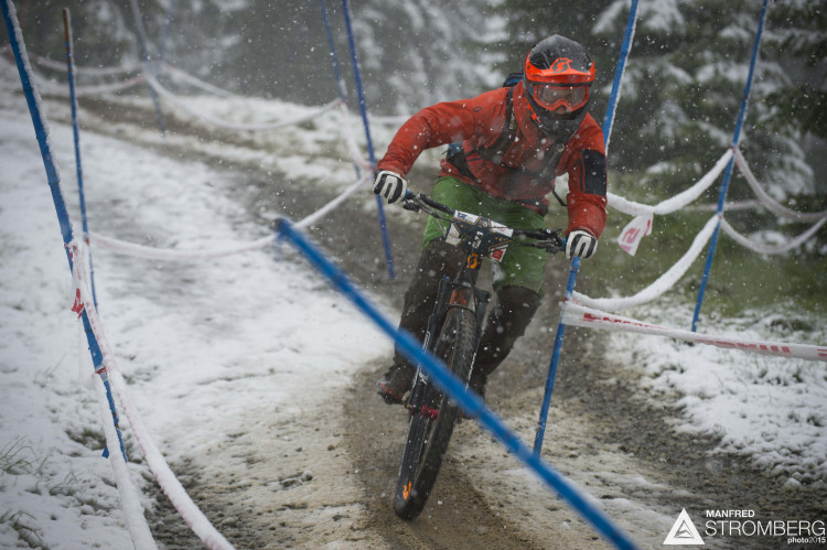 Practise of the 1st UEC MTB Enduro European Championships in Kirchberg, Tyrol, Austria, on June 20, 2015. Free image for editorial usage only: Photo by Manfred Stromberg