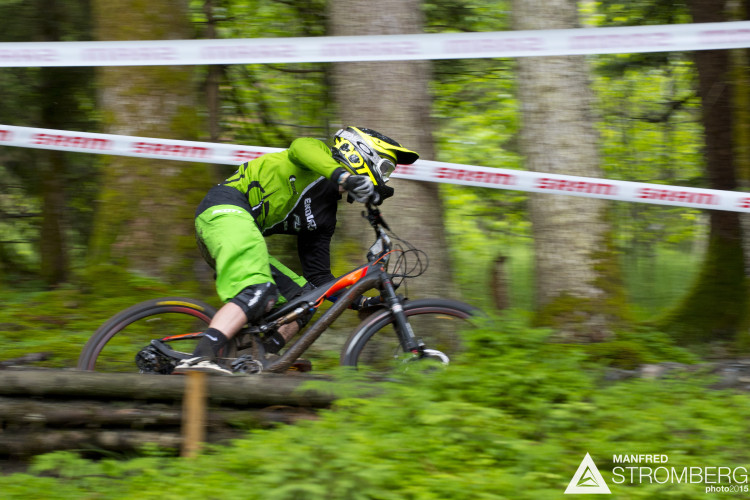 Stage 1 of the 1st UEC MTB Enduro European Championships in Kirchberg, Tyrol, Austria, on June 21, 2015. Free image for editorial usage only: Photo by Manfred Stromberg