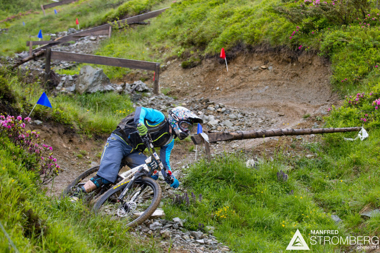 Rimbach Tim of GER in stage 4 of the 1st UEC MTB Enduro European Championships in Kirchberg, Tyrol, Austria, on June 21, 2015. Free image for editorial usage only: Photo by Manfred Stromberg