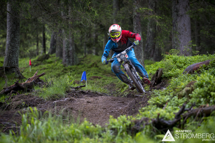 MADEREGGER Kevin of AUT during stage 4 of the 1st UEC MTB Enduro European Championships in Kirchberg, Tyrol, Austria, on June 21, 2015. Free image for editorial usage only: Photo by Manfred Stromberg
