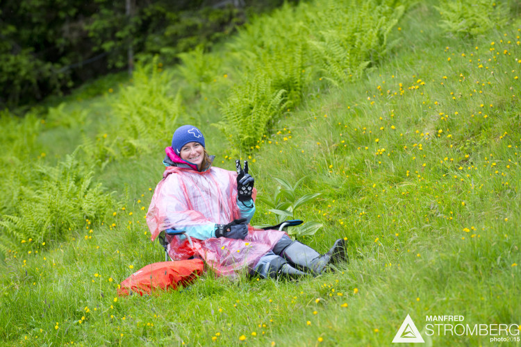 Stage 4 of the 1st UEC MTB Enduro European Championships in Kirchberg, Tyrol, Austria, on June 21, 2015. Free image for editorial usage only: Photo by Manfred Stromberg