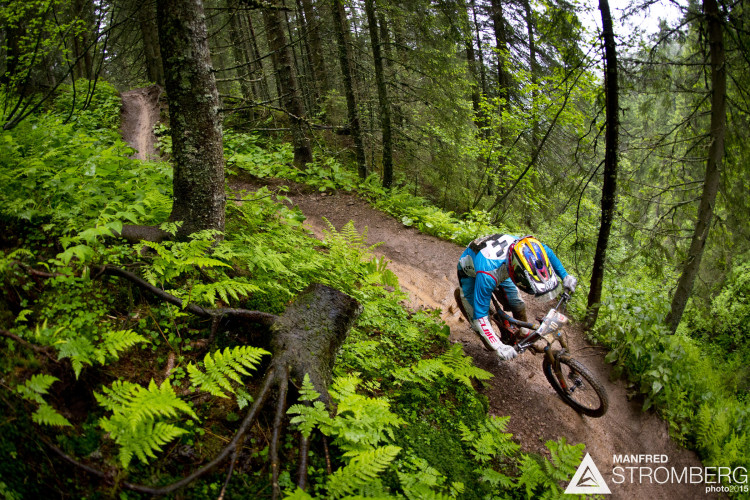 WILCOX Stuart racing stage 4 of the 1st UEC MTB Enduro European Championships in Kirchberg, Tyrol, Austria, on June 21, 2015. Free image for editorial usage only: Photo by Manfred Stromberg