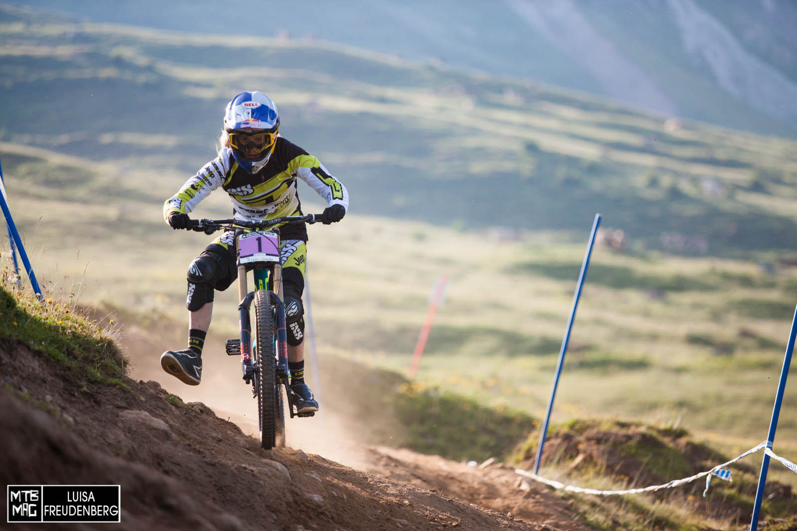 Rachel Atherton - we think she'll be going all out tomorrow...
