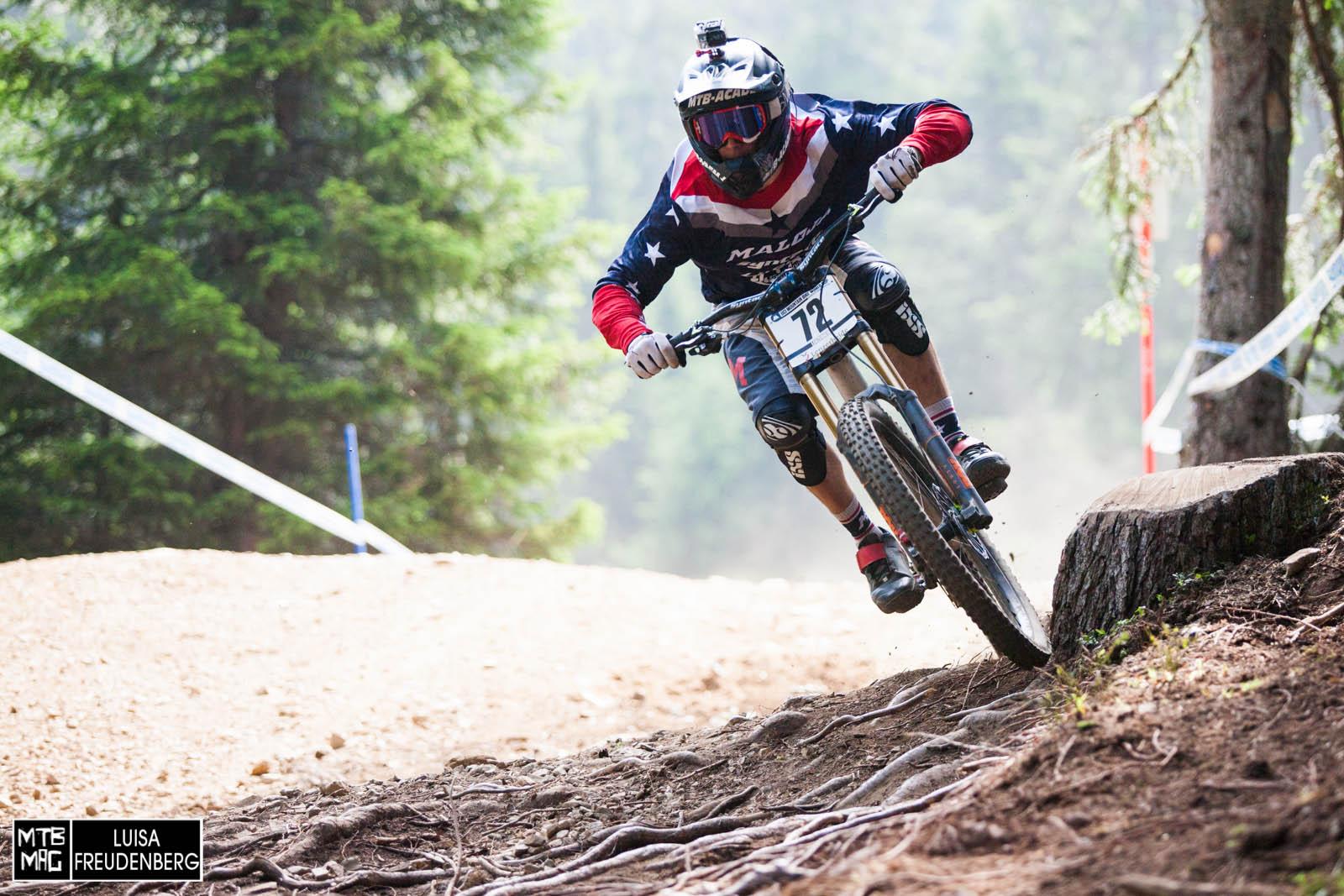 Jasper Jauch qualifizierte sich nach einem Sturz im oberen Teil der Strecke leider nicht.