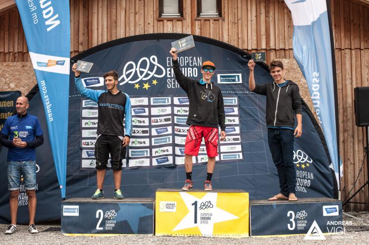 Podium Men Juniors: 1 Kevin Maderegger (AUT) | 2 Simone Invernizzi (ITA) | 3 Jurek Sokolowski (GER)  by Andreas Vigl