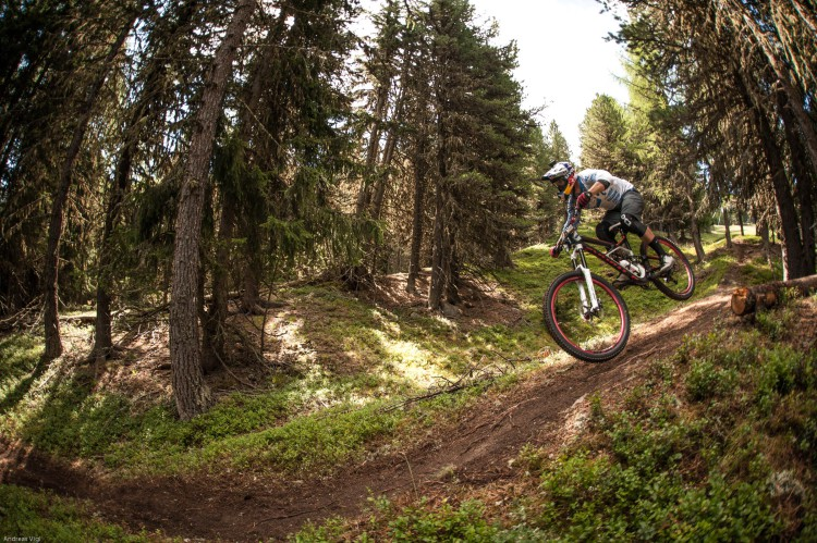Michal PROKOP from Czech Republic during the training for the 3rd stop of the European Enduro Series at Reschenpass, Austria, on July 25, 2015. Free image for editorial usage only: Photo by Andreas Vigl