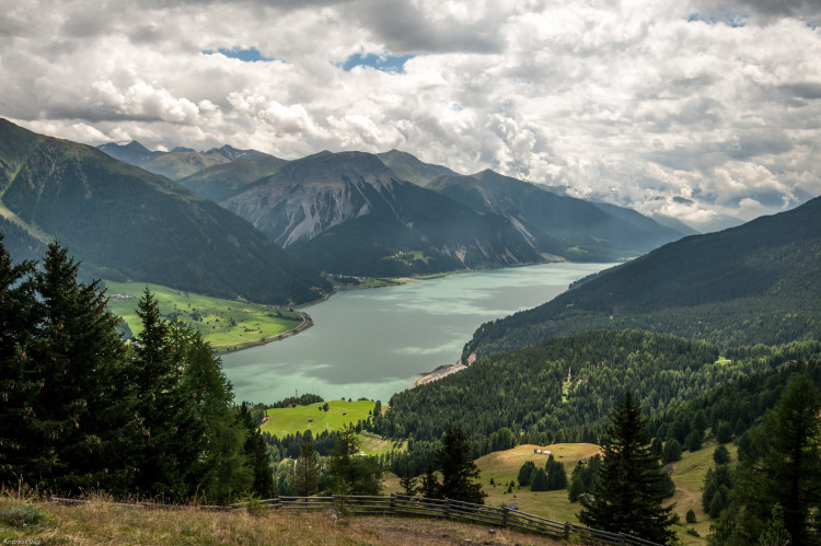 Scenic views on the transfer stage at the 3rd stop of the European Enduro Series at Reschenpass, Austria, on July 25, 2015. Free image for editorial usage only: Photo by Andreas Vigl