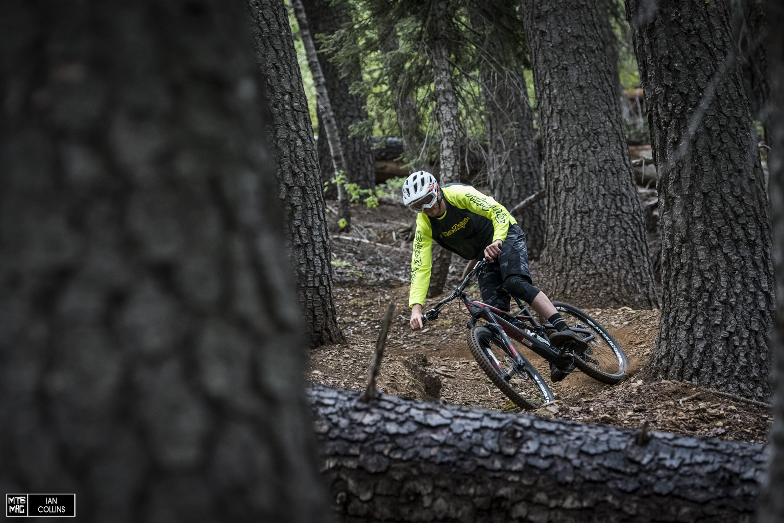 "Christian Fairclough bossing the Stumjumper through the woods of the Downieville ""DH track""."