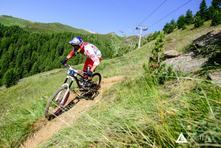 Michal PROKOP (CZE) on stage 1 during the 2nd stop of the European Enduro Series in Sölden, Austria, on July 05, 2015. Free image for editorial usage only: Photo by Felix Oesterle
