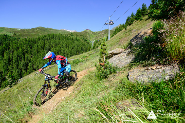 WILLIAMS Robert (GBR) on stage 1 during the 2nd stop of the European Enduro Series in Sölden, Austria, on July 05, 2015. Free image for editorial usage only: Photo by Felix Oesterle