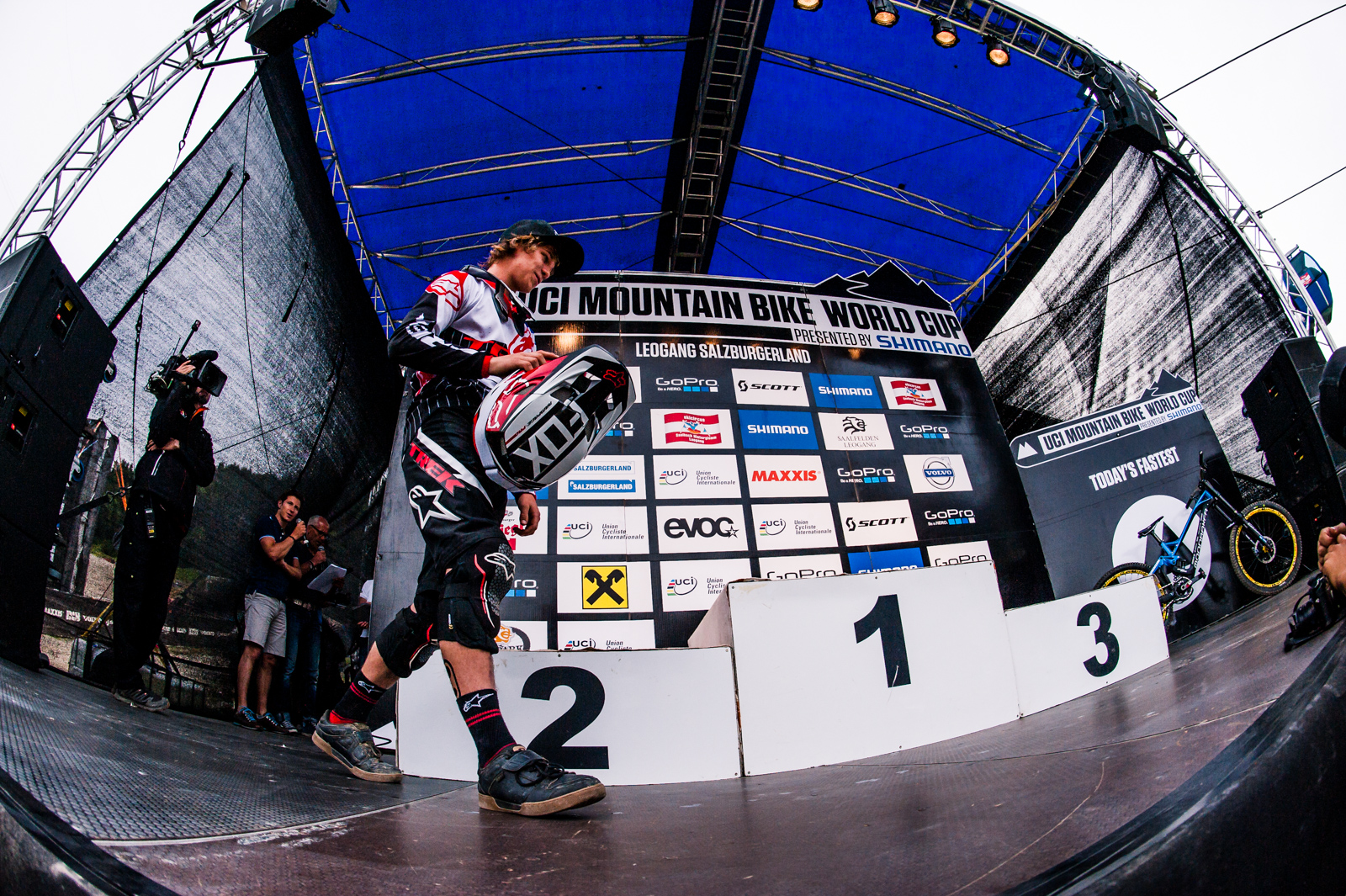 Perhaps outshined by Gwin's successes, Greenland too made the podium without a chain at Leogang.