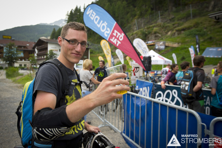 Finish of the prologue of the 2nd EES in Sölden Tyrol, Austria, on July 4, 2015.Free image for editorial usage only: Photo by Manfred Stromberg