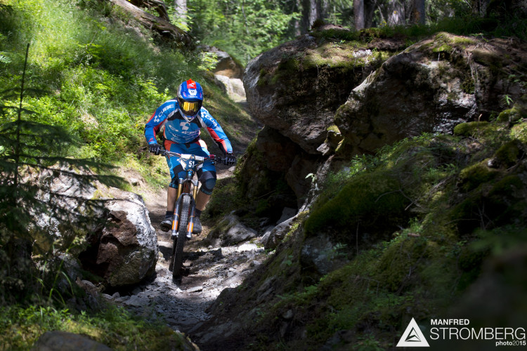 NICO LAU FROM FRA in stage 5 of the 2nd EES in Sölden Tyrol, Austria, on July 5, 2015. Free image for editorial usage only: Photo by Manfred Stromberg