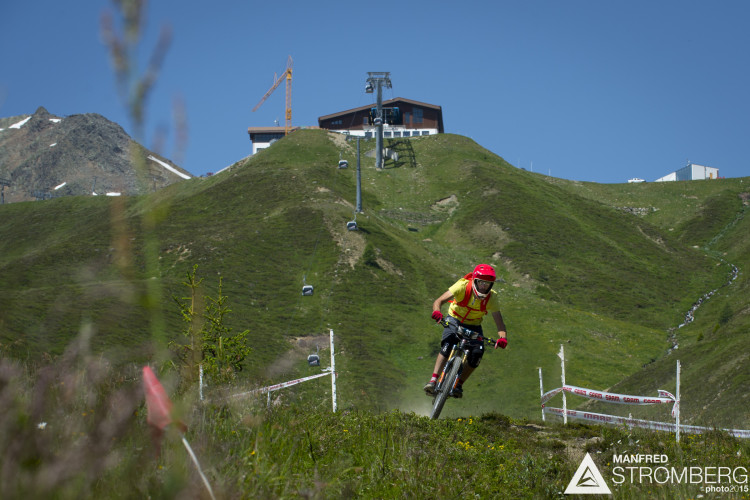 Benny Purner in practise of the 2nd EES in Sölden Tyrol, Austria, on July 4, 2015.Free image for editorial usage only: Photo by Manfred Stromberg