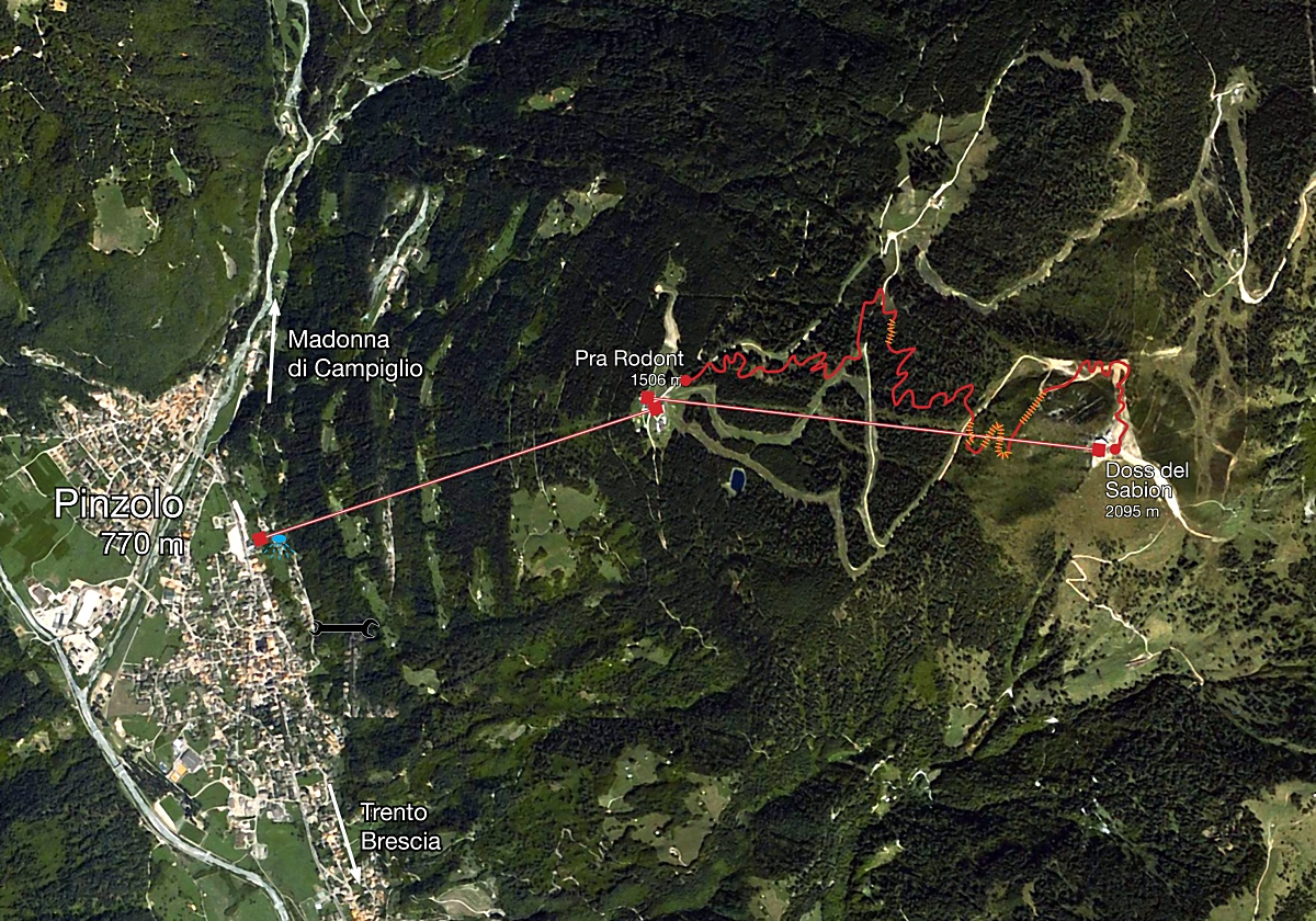 mappa pista downhill