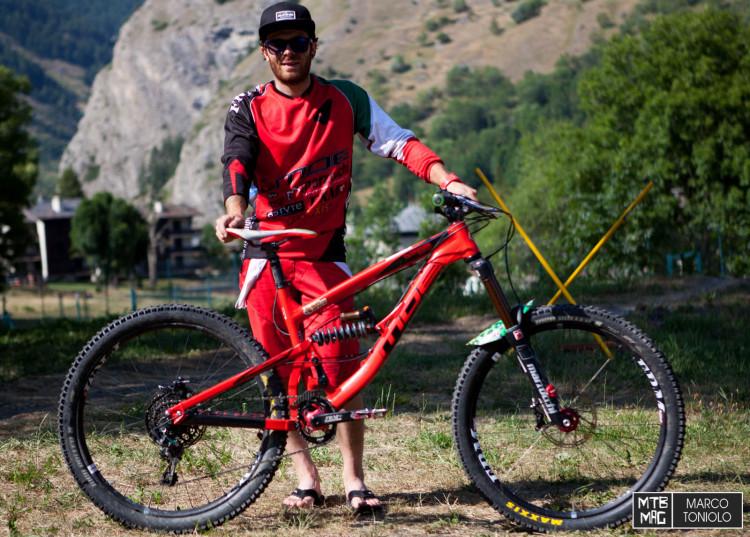 Alex al termine della prima giornata di gara a La Thuile