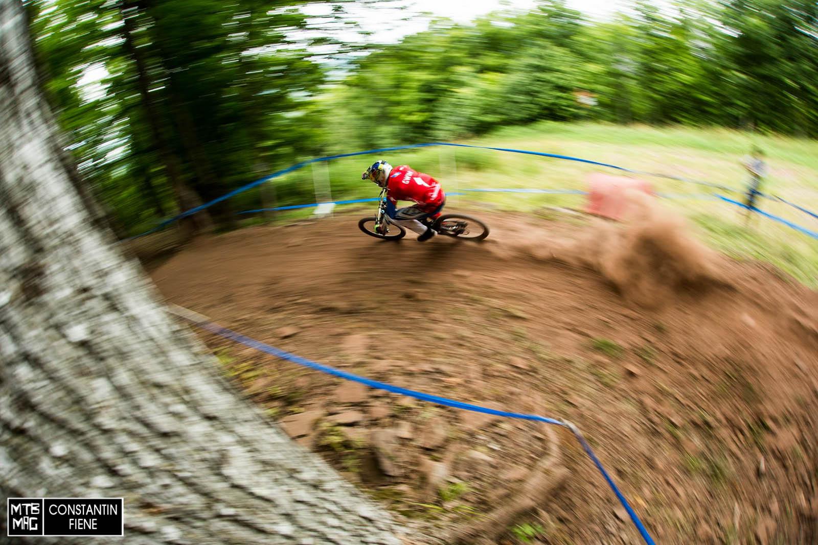 Lokalmatador, Patriot und Mountainbiker aus Leidenschaft Aaron Gwin zählt als einer der Favoriten für Samstag.