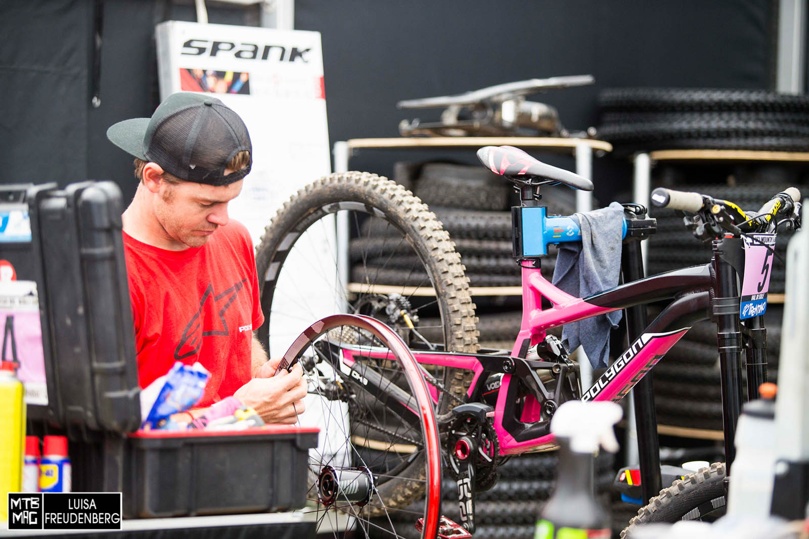Tracy Hannah's bike getting some love.
