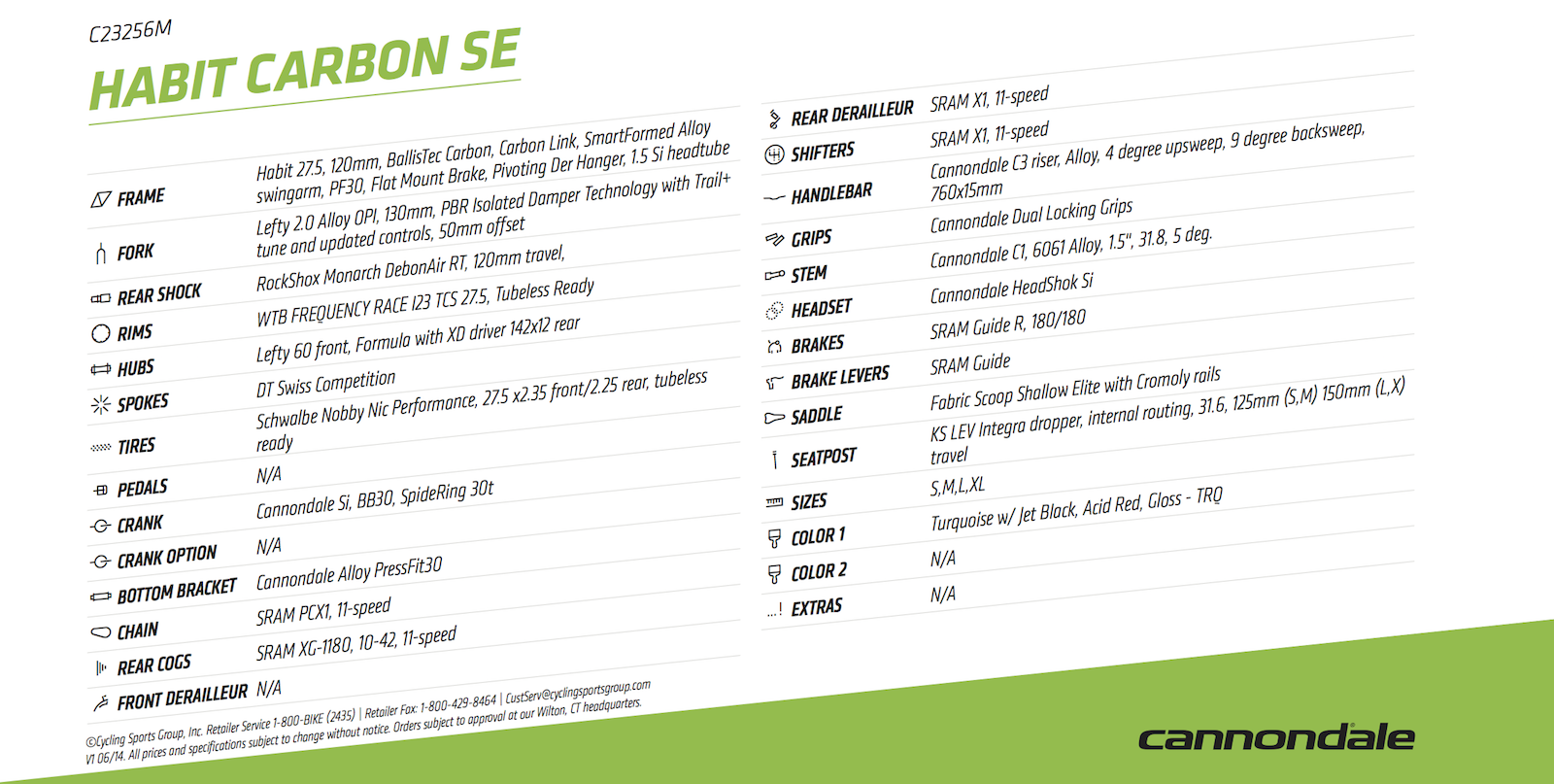 Cannondale 2016 Habit Carbon SE
