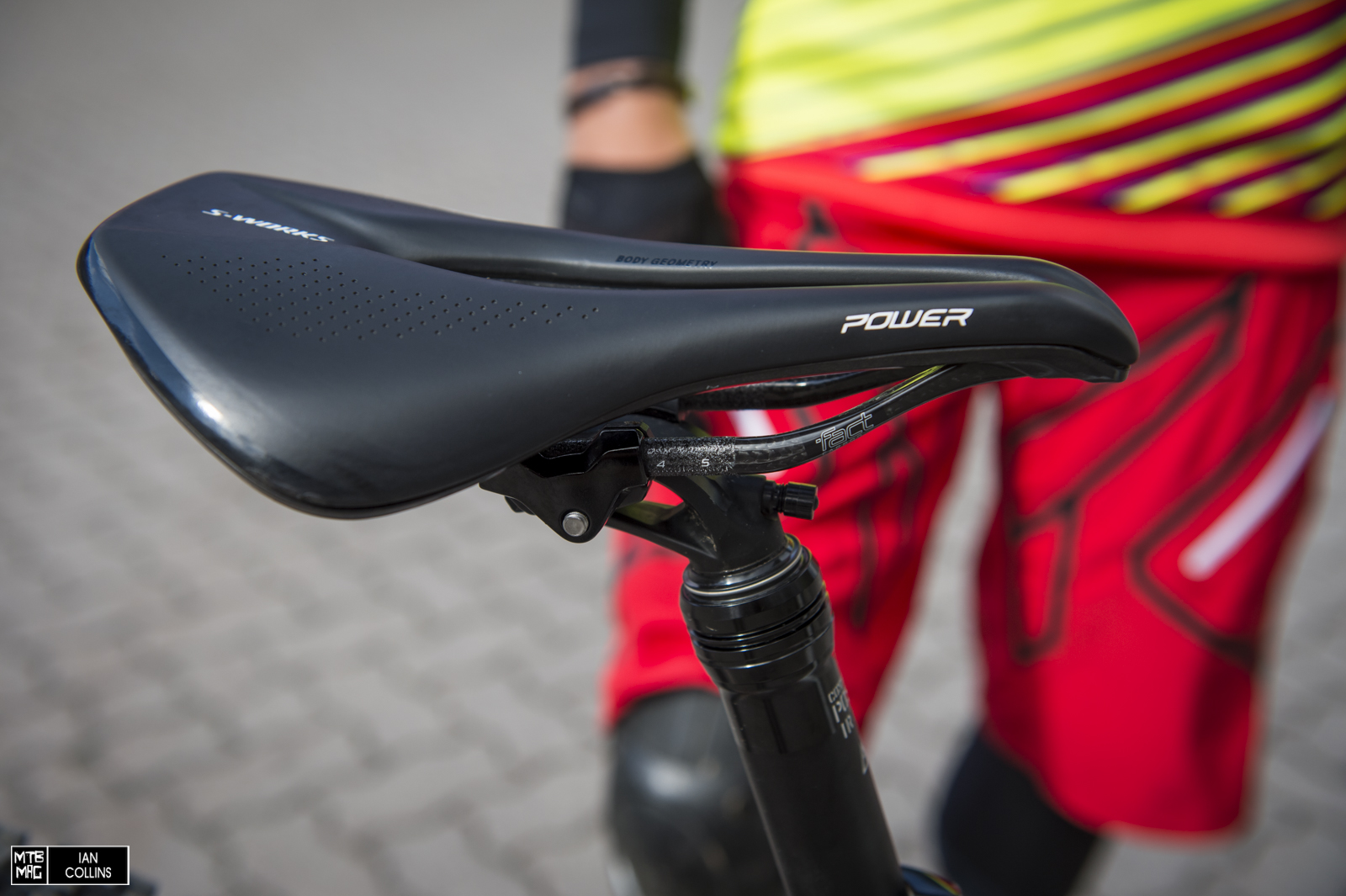 S-Works Power saddle in the flagship carbon offering.  We're testing the comp version at the moment.  It's sweet so far.