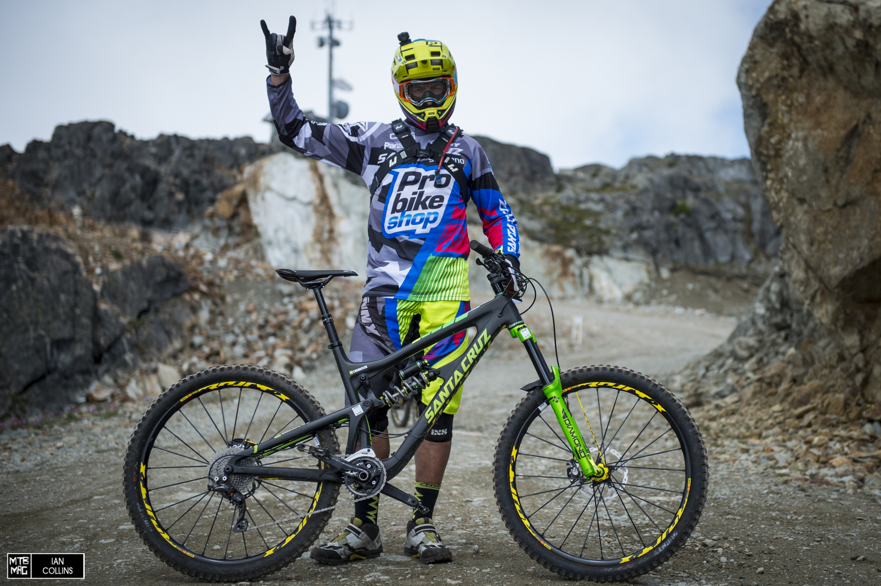 Still killing it.  Cedric Gracia was charging at the Crankworx EWS.  We pulled him aside to grab a few pics of his whip.