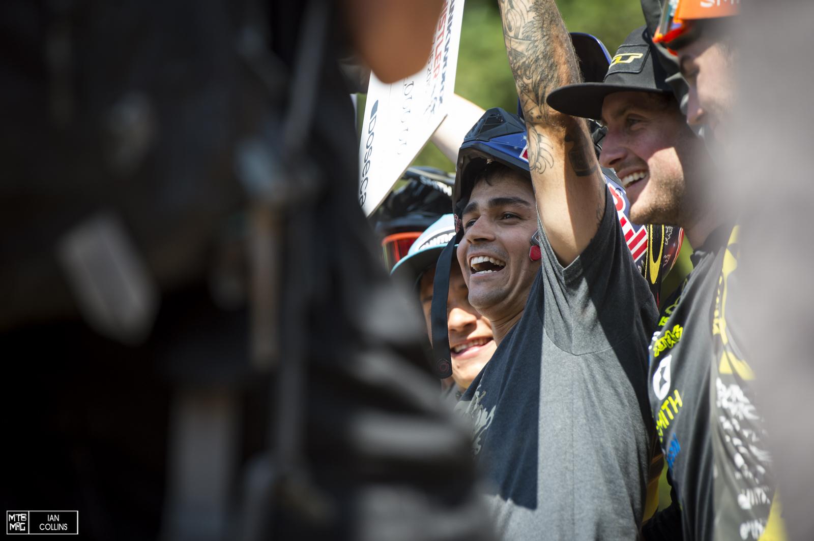 Andreu Lacondeguy, Bernardo Cruz & R - Dog round out the top 3 in the men's.