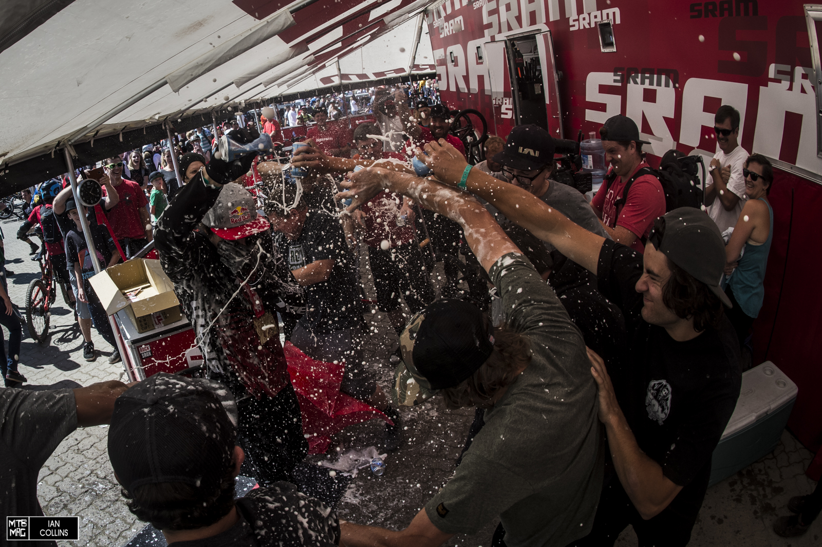 And a big beer shower.  What a show.  We feel so lucky to be a part of it.  Until next year.