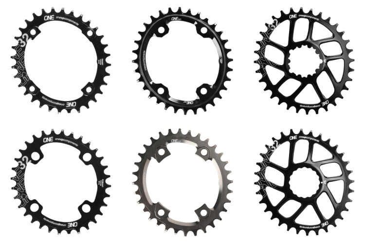 OneUp-Components-32T-Narrow-Wide-Traction-Oval-Chainring-104-94-96-SRAM-DM-Race-Face-Cinch-DM-XT-M8000-XTR-M9000-Front-Black-Tiled-2